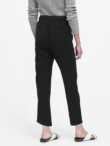 Kadın siyah Tapered-Fit Pantolon