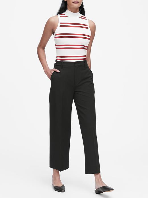 Wide-Leg Cropped Pantolon