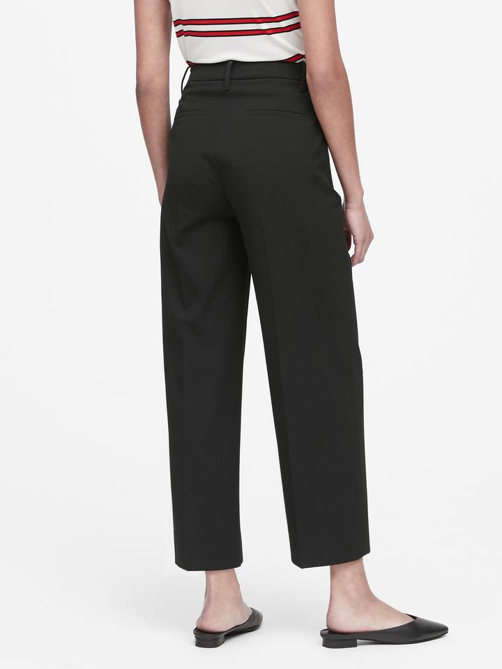 Wide-Leg Cropped Pantolon