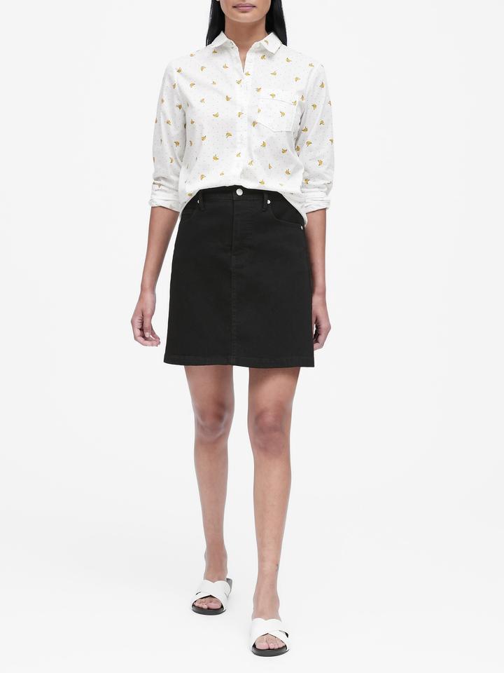 Kadın Gri Quinn Straight-Fit Gömlek