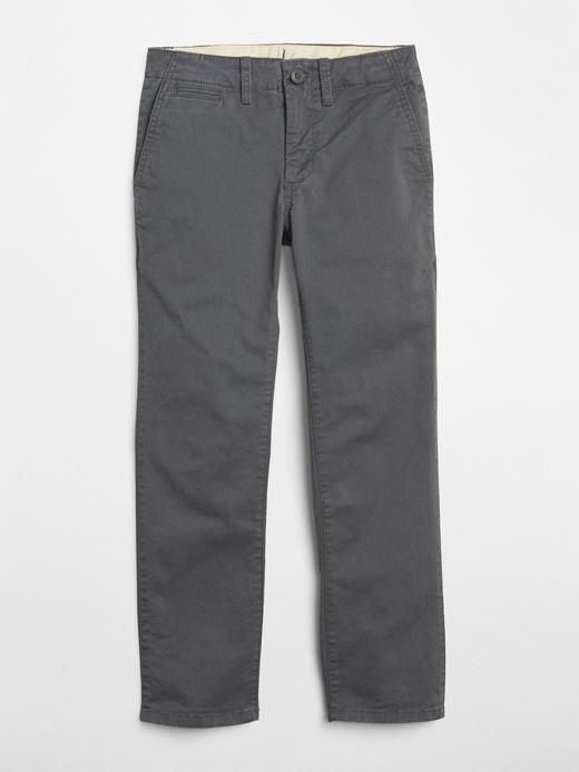 Erkek Çocuk gri Streç Chino Pantolon
