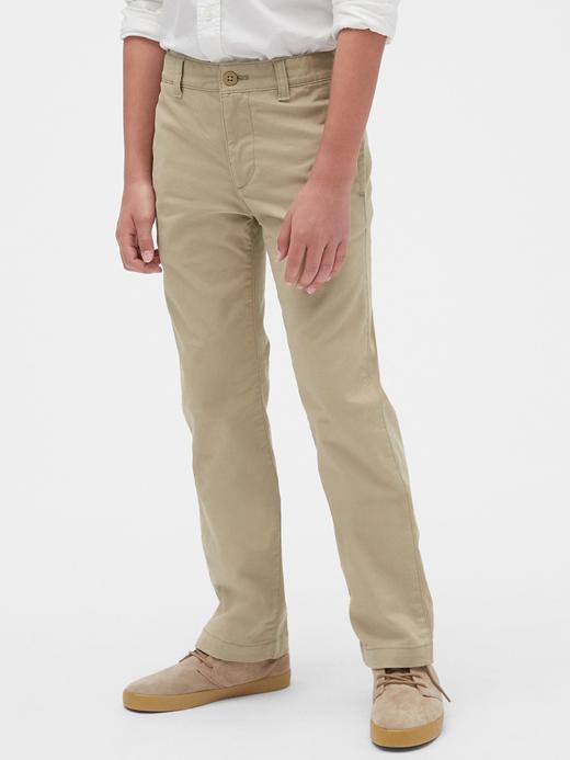 Erkek Çocuk Siyah Straight Khaki Pantolon