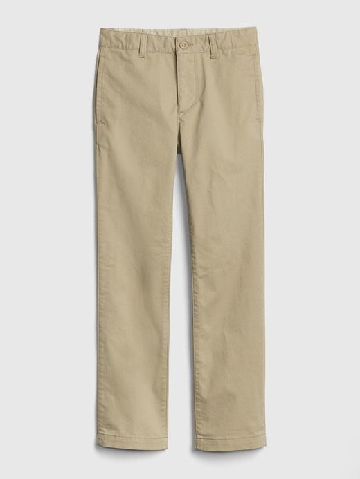 Erkek Çocuk haki Straight Khaki Pantolon