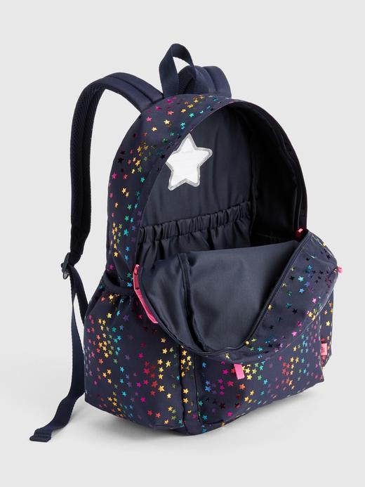 Kız Çocuk lacivert Yıldız Desenli Sırt Çantası