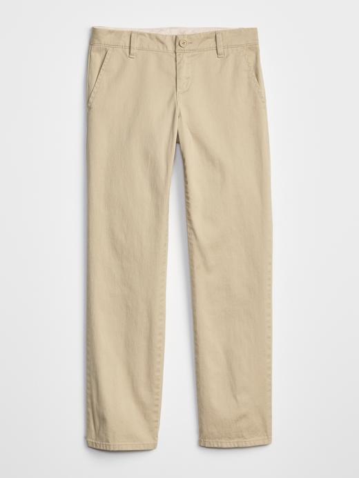Kız Çocuk bej Skinny Chino Pantolon