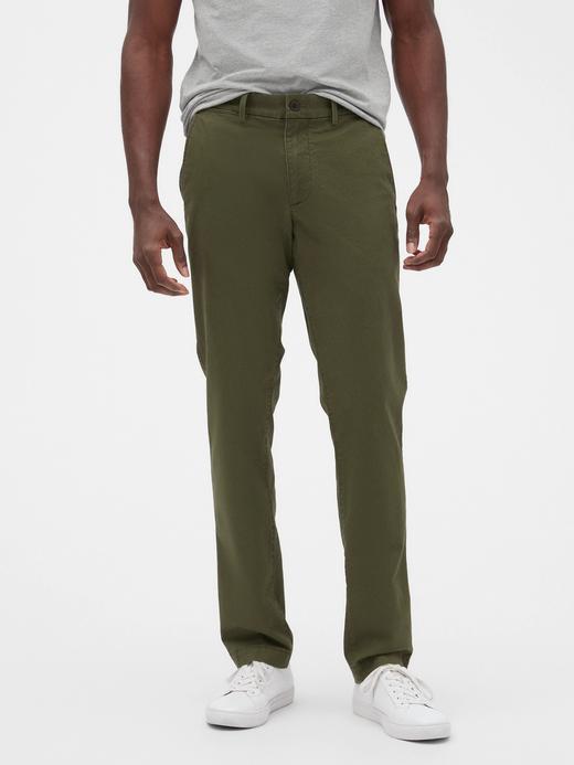 Erkek Yeşil Slim Fit Gap Flex Khaki Pantolon