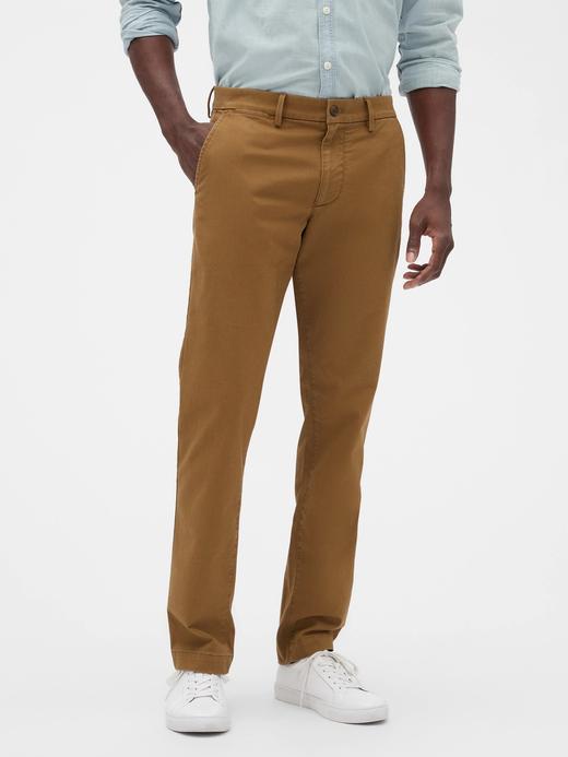 Erkek Kahverengi Slim Fit Gap Flex Khaki Pantolon