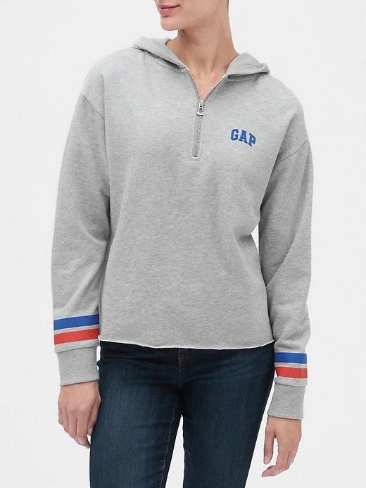 Gap Logo Yarım Fermuarlı Sweatshirt