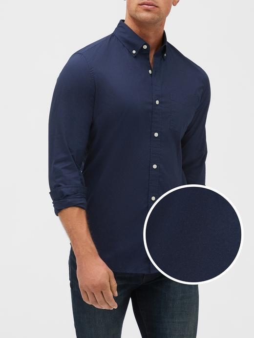 Uzun Kollu Poplin Gömlek