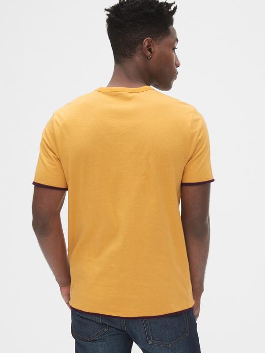 Çİft Taraflı Yuvarlak Yaka T-shirt