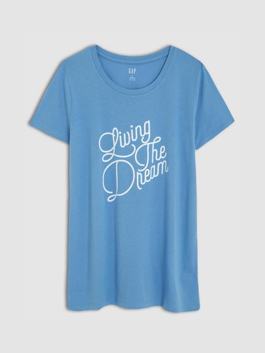 Kadın Baskılı Sıfır Yaka T-Shirt