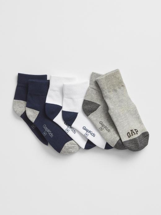 Erkek Çocuk çok renkli 3'lü Gap Logo Çorap