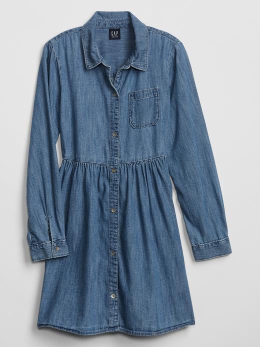 Kız Çocuk orta indigo Denim Elbise
