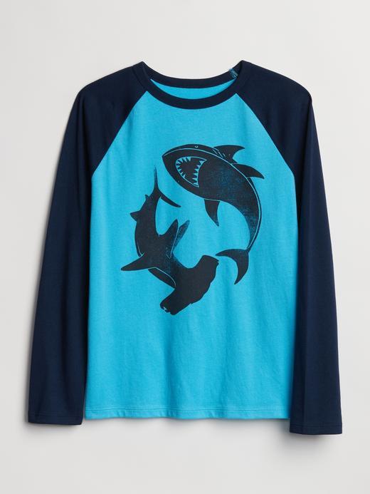 Erkek Çocuk gök mavisi Uzun Kollu T-shirt