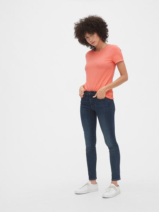 lila Kadın Vintage Kısa Kollu Sıfır Yaka T-Shirt