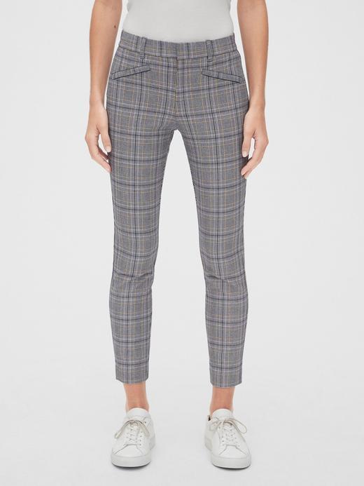Kadın gri Ekoseli Pantolon