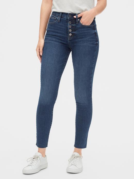 Kadın Koyu indigo Yüksek Belli True Skinny Jean Pantolon