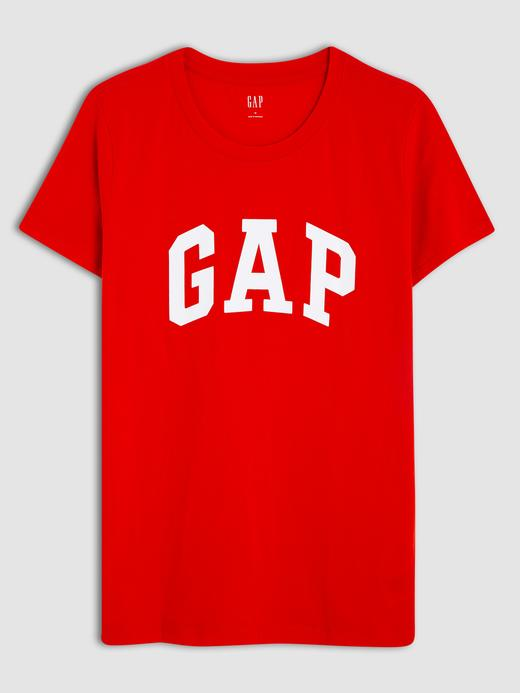 Kadın kırmızı Kadın Gap Logo Kısa Kollu T-Shirt