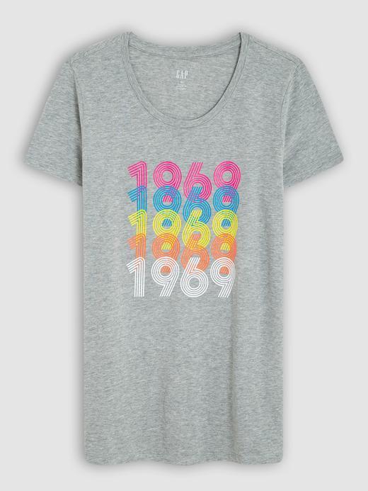 Kadın gri Kadın Baskılı Sıfır Yaka T-Shirt