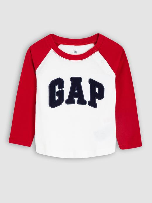 Bebek bordo Gap Logo Uzun Kollu T-shirt