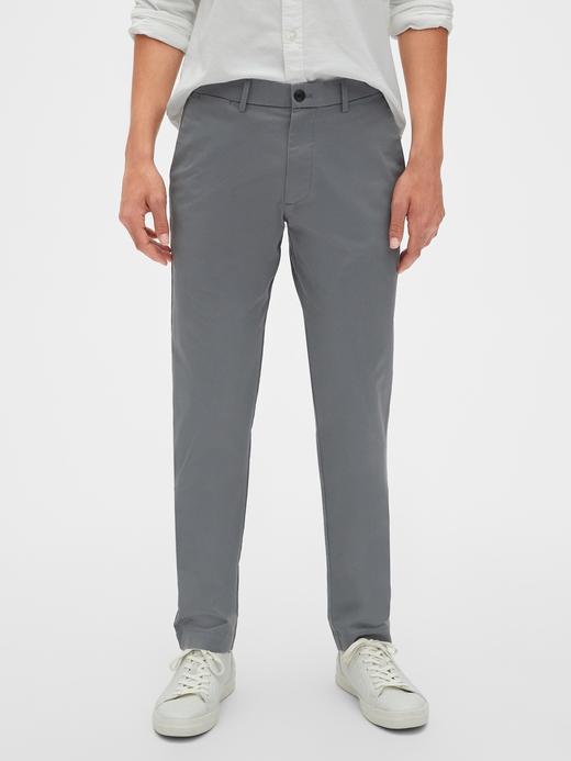 Erkek gri Slim Khaki Pantolon