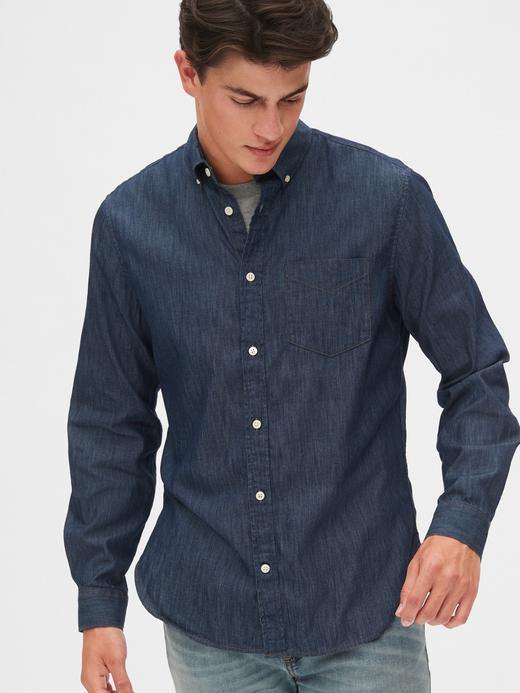 Slim Denim Gömlek