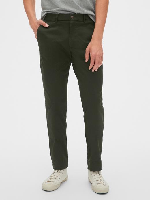 Erkek Yeşil Slim Khaki Pantolon