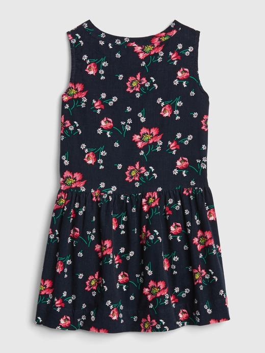 Bebek lacivert Desenli Elbise