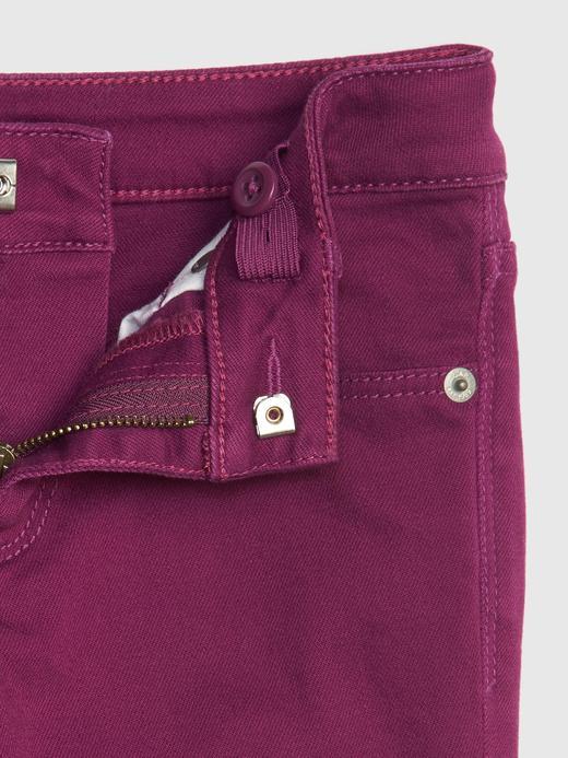 Kız Çocuk bordo Super Skinny Jean Pantolon