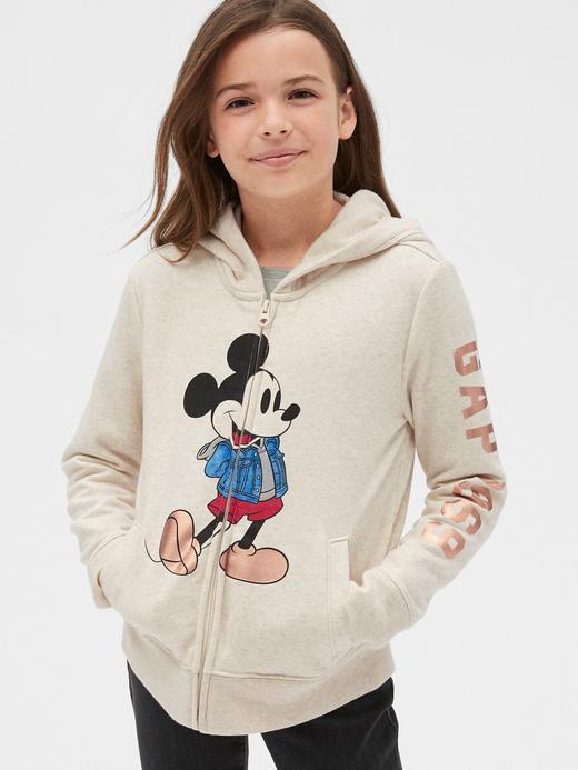 Kız Çocuk bej Disney Kapüşonlu Sweatshirt