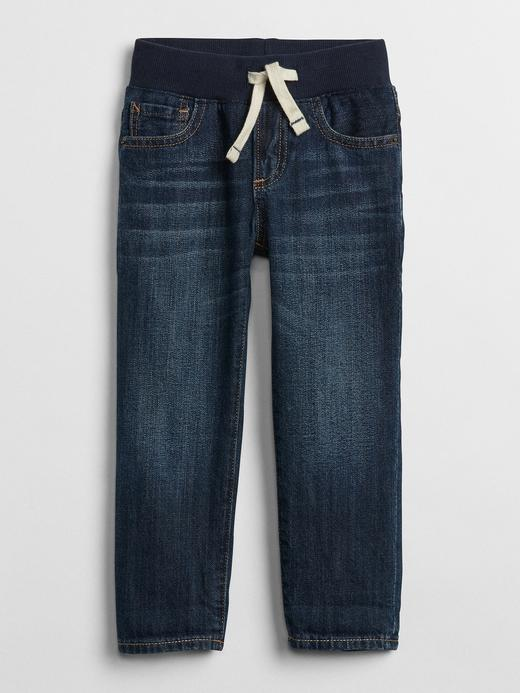 Bebek Lacivert Pull-On Slim Jean