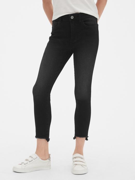 Kız Çocuk siyah Yüksek Bel Jegging Pantolon