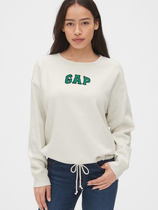 Kadın Bej Gap Logo Sweatshirt