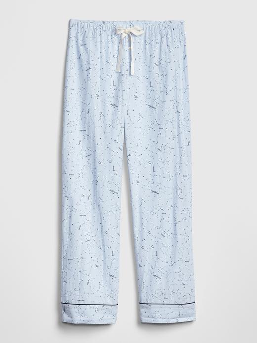 Desenli Poplin Pijama Altı