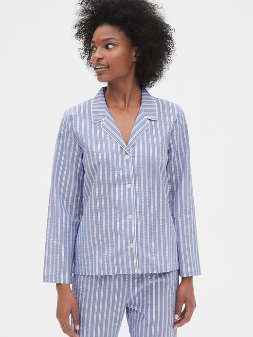 Kadın açık mavi Desenli Poplin Gömlek