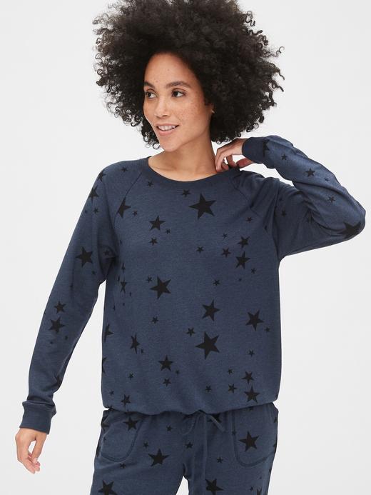 Oversize Desenli Sweatshirt