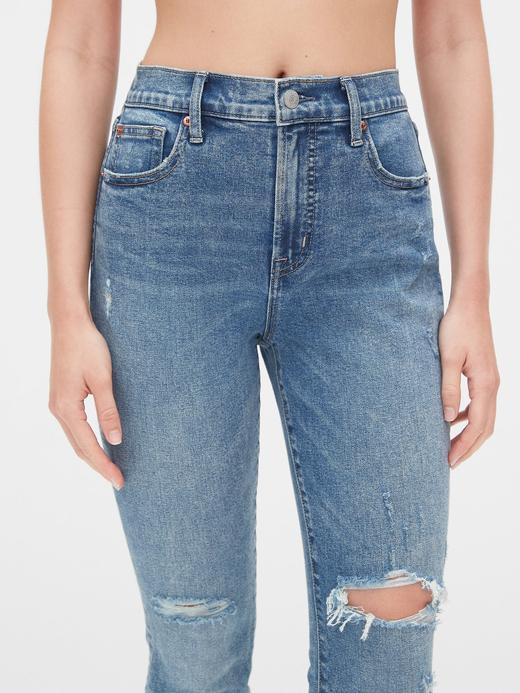 Kadın Mavi Yüksek Belli True Skinny Jean Pantolon