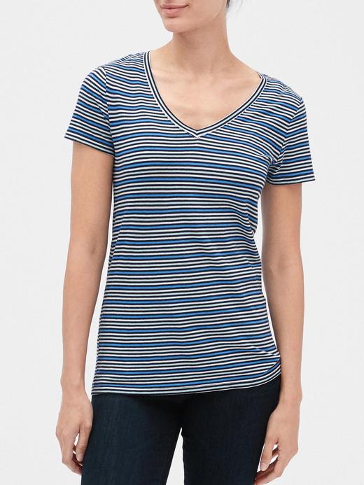 Kadın Lacivert V Yaka T-shirt