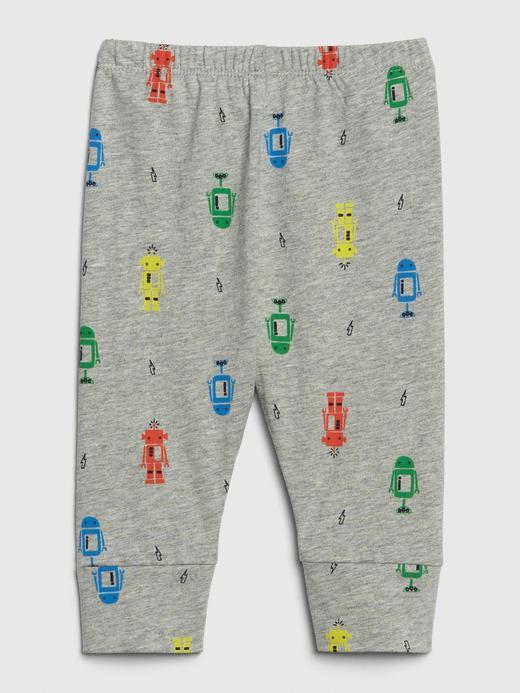 Desenli Pull-On Pantolon