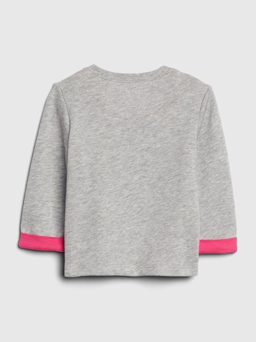 Uzun Kollu Grafik Sweatshirt
