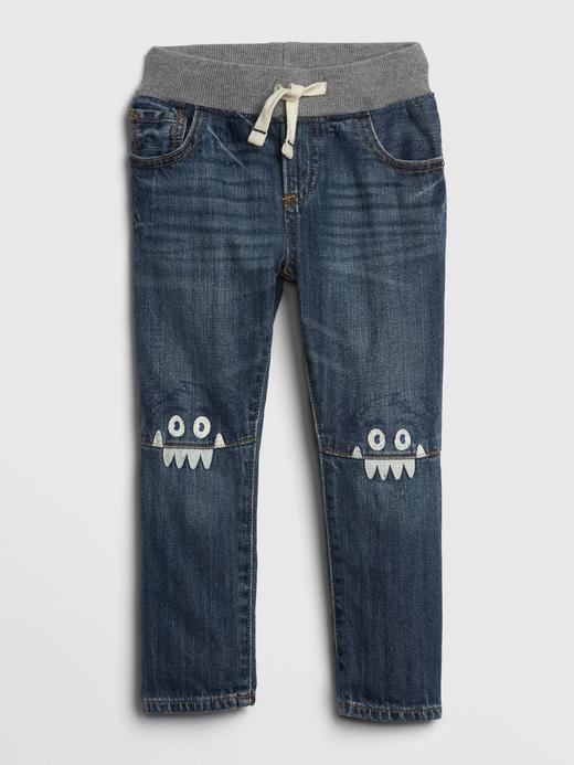 Bebek orta yıkama Pull-On Slim Jean Pantolon