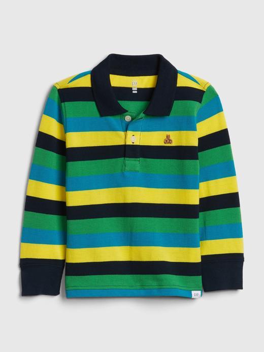Bebek yeşil Uzun Kollu Polo Yaka T-shirt