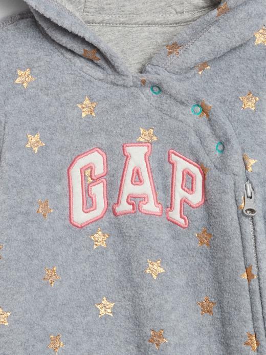 Bebek lacivert baskılı Gap Logo Kapüşonlu Tulum