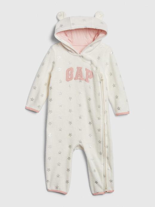Bebek renkli Gap Logo Kapüşonlu Tulum