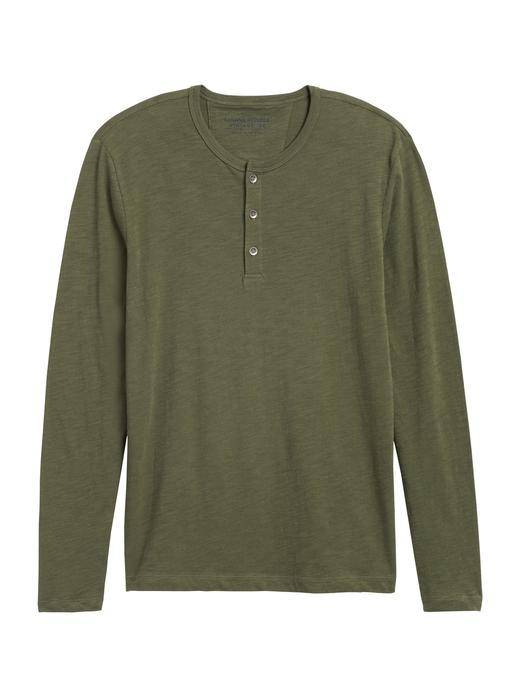 Pamuklu Henley T-Shirt