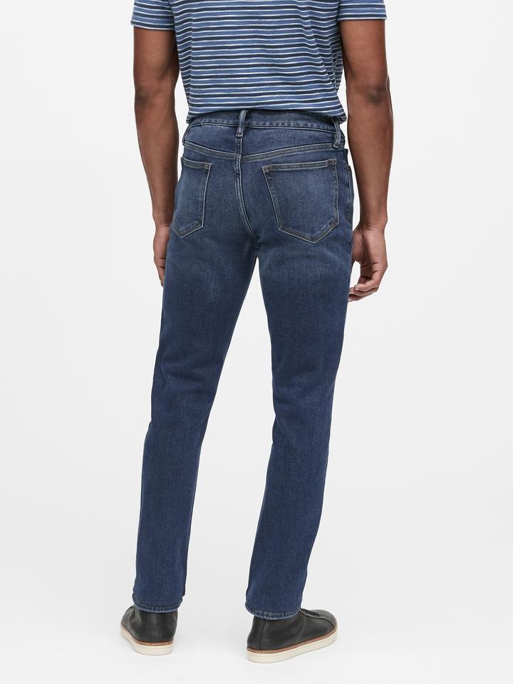 Erkek orta yıkama Slim Legacy Jean Pantolon