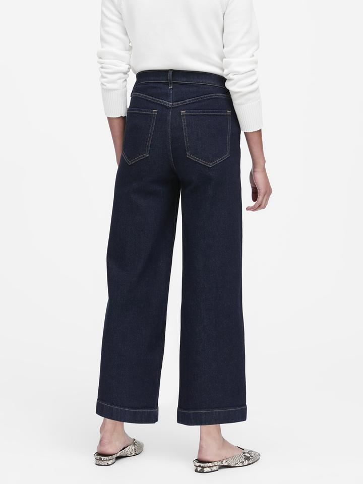 Wide Leg Jean Pantolon