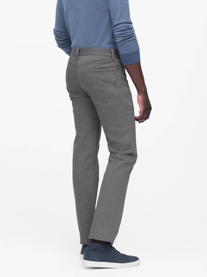 Erkek Gri Slim Traveler Pantolon
