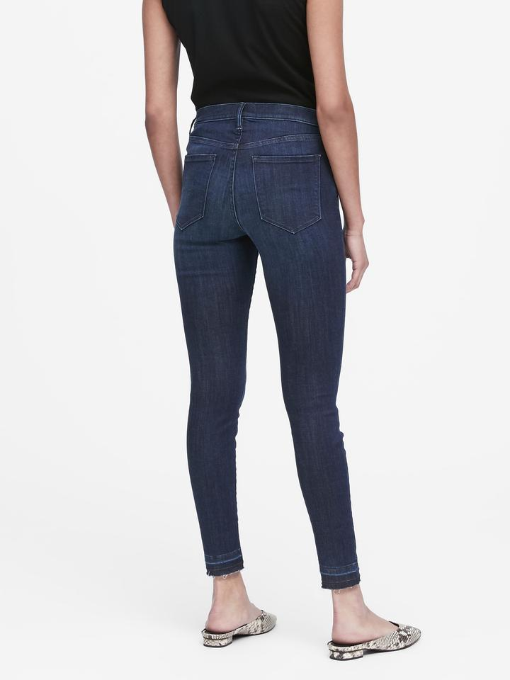 Kadın lacivert Yüksek Bel Legging Jean Pantolon