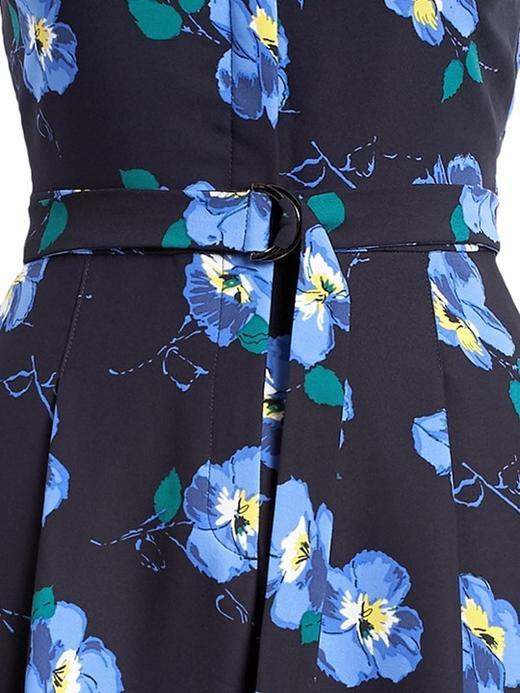 Çiçek Desenli Wide Leg  Tulum
